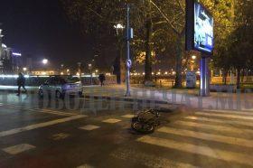 """Велосипедист удрен на пешачки премин пред """"Холидеј Ин"""""""
