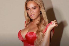 Бијонсе на гала вечера во црвен, секси фустан (ФОТО)