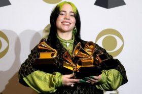Били Ајлиш со пет Греми награди, ѕвездите му оддадоа почит на Коби Брајант (ФОТО)