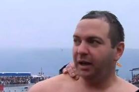 Петар Рупески по петти пат го фати Светиот крст во Охрид