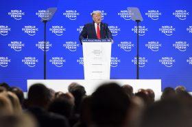 Трамп панелот на климатски промени во Давос го искористи за предизборен говор
