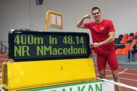 Атлетичарот Стојоски постави нов државен рекорд на 400 метри