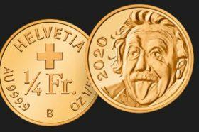 Изадена најмалата монета во светот со ликот на Ајнштајн