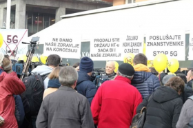 Хрватите протестираа против 5Г мрежа