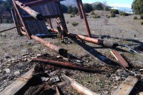Уништен видиковец на врвот на Водно (ФОТО)