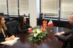 Работна средба на министерката Мизрахи со амбасадорот Ромео