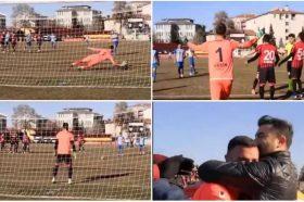 Најлудата завршница во фудбалот: Голманот одбрани два пенали кои се поништени, а тој добива црвен картон… (ВИДЕО)