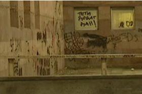 На Народната библиотека во Белград осамнаа нацистички и расистички графити
