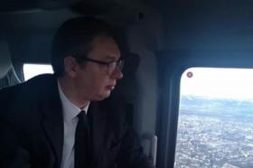 Хеликоптерот на Вучиќ во страшно невреме, а тој смирено: Не се плашам, летам веќе седум години
