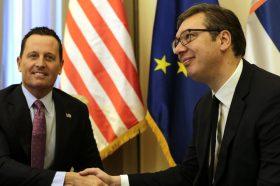Вучиќ – Гренел: Да се укинат таксите и повлекувањата на признавањето за Косово