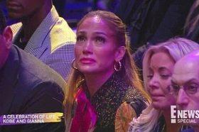 Џенифер Лопез и нејзиниот вереник Алекс Родригез се изнаплакаа на говорот на Ванеса Брајант! (ВИДЕО)