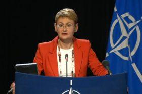 Портпаролката на НАТО го поздрави донесувањето на Законот за одбрана