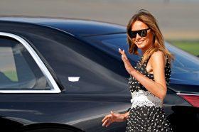 Уште една модна лекција од Меланија Трамп: Во овој фустан секоја жена изгледа преубаво! (ФОТО)