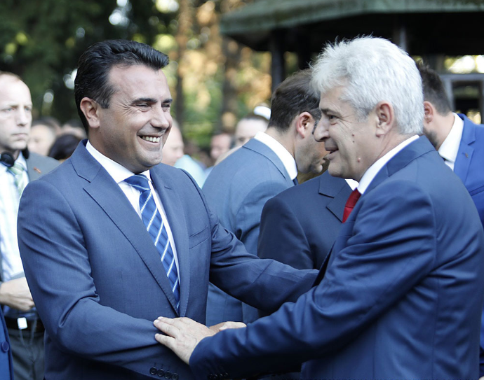 Zaev claims that he did not talk to Ahmeti about changing the flag, coat of  arms and anthem - Free Press