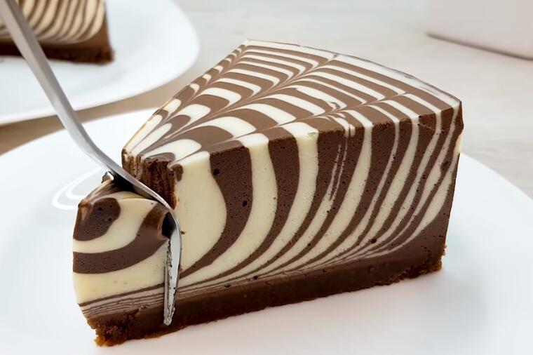 непечена зебра торта
