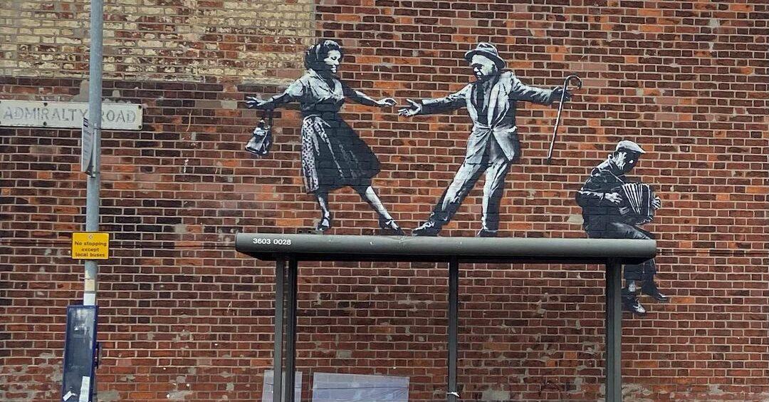 бенкси улична уметност