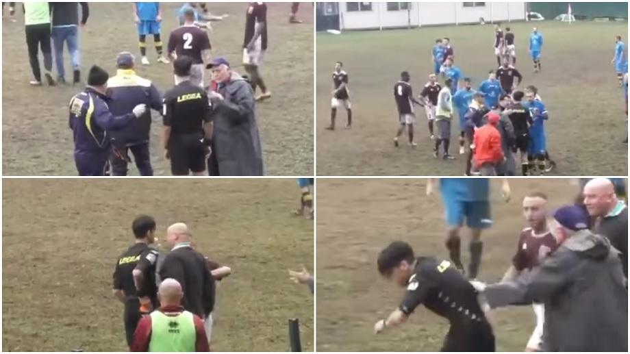 ВИДЕО: Фудбалски тренер во Италија го удри главниот судија, а потоа се извини